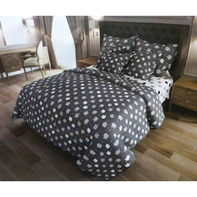 Полуторное постельное белье Бязь Gold - Яблочко серое