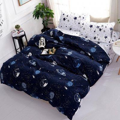 Двуспальное постельное белье Бязь Gold - Космополис
