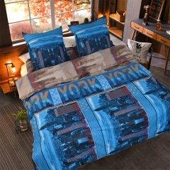 Двуспальное постельное белье Бязь Gold - New York