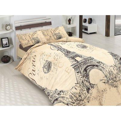 Полуторное постельное белье Бязь Gold - Париж романтик