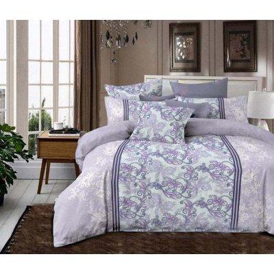 Полуторное постельное белье Бязь Gold - Фиолетовый Рафаэль