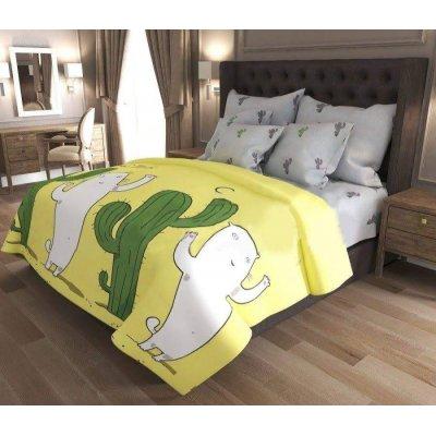 Семейное постельное белье Бязь Gold - Кот и кактус