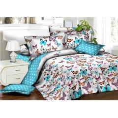 Семейное постельное белье Бязь Gold - Бабочки и белый горошек
