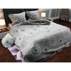 Двуспальное постельное белье Бязь Gold - Одуванчик галактика серый