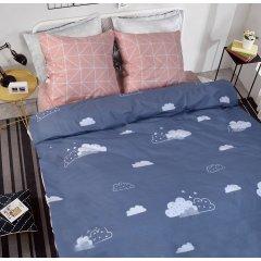 Полуторное постельное белье Бязь Gold - Облака