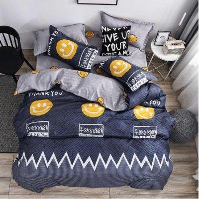 Двуспальное постельное белье Бязь Gold - Смайлики