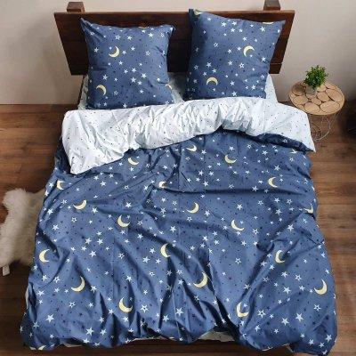 Евро постельное белье Бязь Gold - Тихие звезды