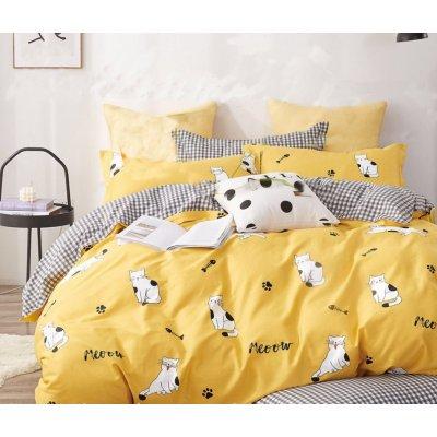 Евро постельное белье Бязь Gold - Няшные котики-милашки 2