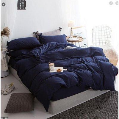 Двуспальное постельное белье Бязь Gold - Темно-синее однотонное