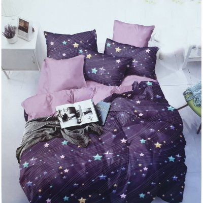 Двуспальное постельное белье Бязь Gold - Звездная буря