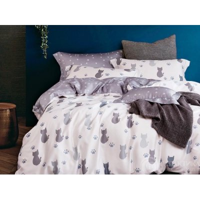 Полуторное постельное белье Бязь Gold - Кот стесняшка