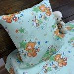 Детское постельное белье в кроватку - Бязь Gold - Мишка соня