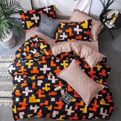 Двуспальное постельное белье Бязь Gold - Пазлы (50х70)