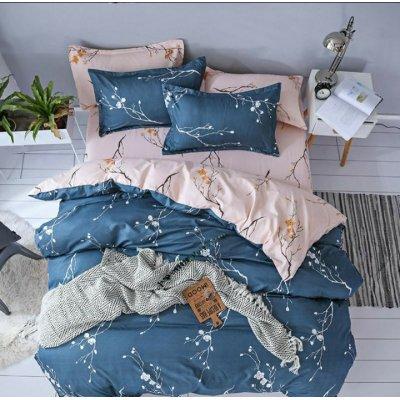 Двуспальное постельное белье Бязь Gold - Сакура
