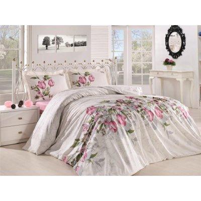 Полуторное постельное белье Бязь Gold - Касабланка розовая