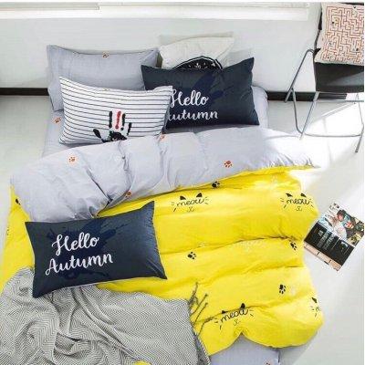 Двуспальное постельное белье Бязь Gold - Мияууу