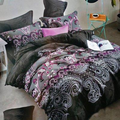 Двуспальное постельное белье Бархат 3D - Джулия (50х70)