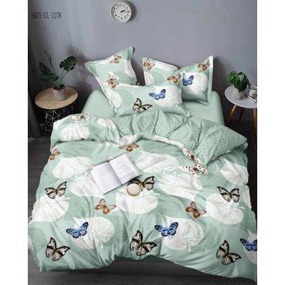 Семейное постельное белье Бязь Gold - Бабочки на листиках