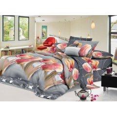 Семейное постельное белье София 3D (микросатин) - Лилейные тюльпаны