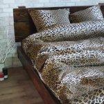 Семейное постельное белье София 3D (микросатин) - Леопард