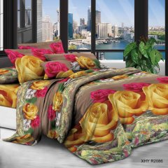 Двуспальное постельное белье София 3D (микросатин) - Розы любимой
