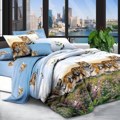 Постельное белье София 3D - Бенгальские тигры