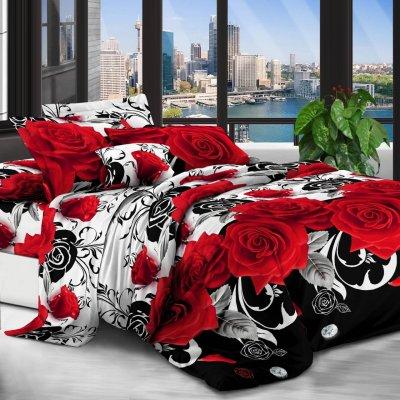 Постельное белье София 3D - Розы и бриллианты