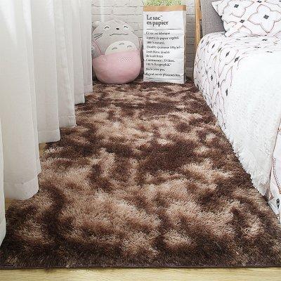 Мягкий пушистый коврик с высоким ворсом - Коричневый