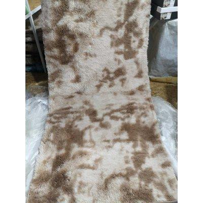 Мягкий пушистый коврик с высоким ворсом - Молочный
