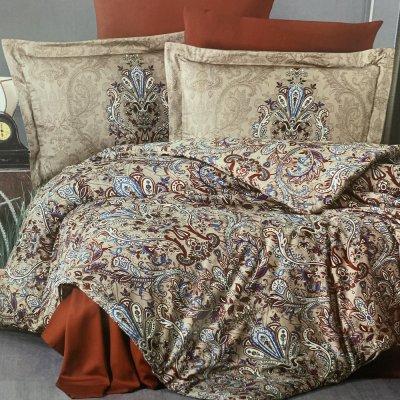 Полуторное постельное белье Cotton Satin - Aleron cinnamon