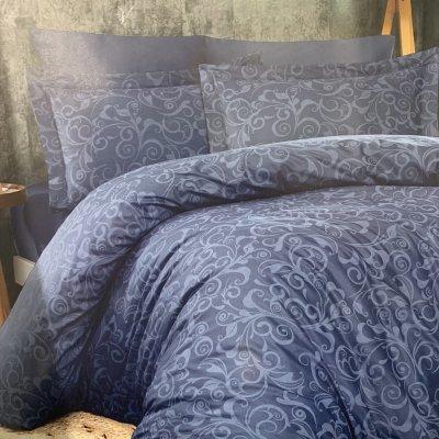 Евро постельное белье Cotton Satin Lines Style - Sweta denim