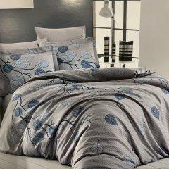Евро постельное белье Cotton Satin - Evida gri
