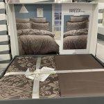 Семейное постельное белье Cotton Satin Lines Style - Vanessa brown