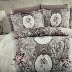 Семейное постельное белье Cotton Satin - Poema leylak