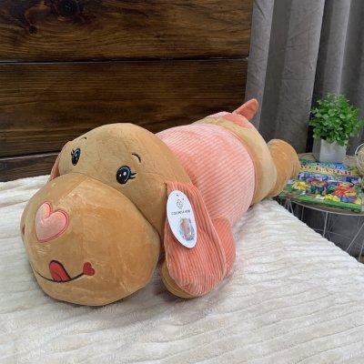 Игрушка - плед подушка - Собака (рыжая)