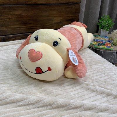 Игрушка - плед подушка - Собака (белая)