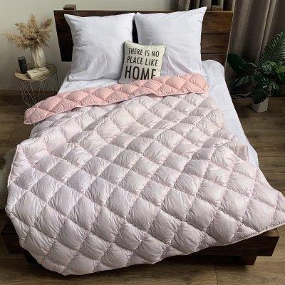 Одеяло зима микрофибра напол. холлофайбер ODA (розовое)