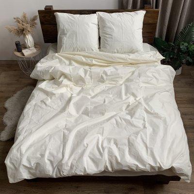 Полуторное постельное белье Бязь Gold - Однотонное шампань