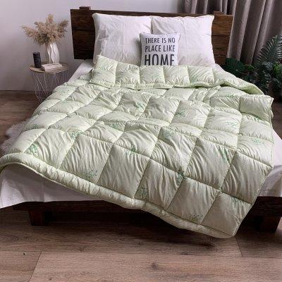 Одеяло зима ткань Микрофибра напол. Бамбуковое волокно - ODA - 155х210 (салатовое)