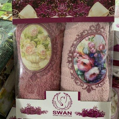 Набор турецких кухонных полотенец Swan 30х50см (2шт) - Париж