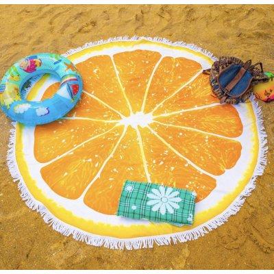Пляжное полотенце из микрофибры - Апельсин