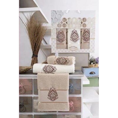 Набор махровых полотенец Gulcan - Беж