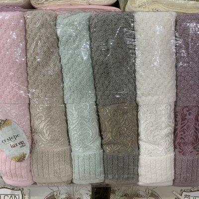 Турецкие полотенца Lux VIP Cotton (6шт.-70х140 см) - Vikkid