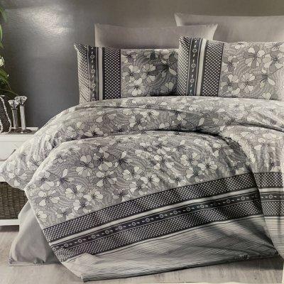 Полуторное постельное белье First Choice Ranforce (100% хлопок) - Gianna Grey