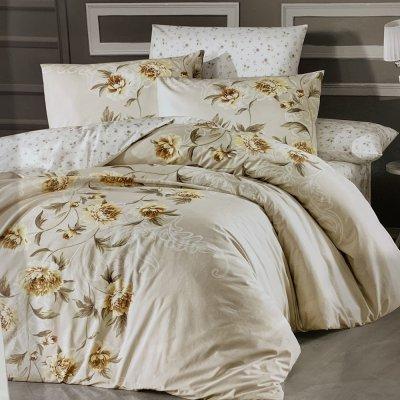 Полуторное постельное белье First Choice Ranforce (100% хлопок) - Luiza Ekru