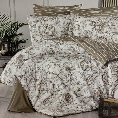 Полуторное постельное белье First Choice Ranforce - Rozen Mink