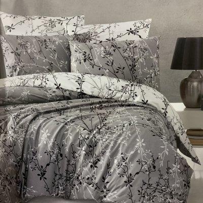 Полуторное постельное белье First Choice Ranforce (100% хлопок) - Zena Gri
