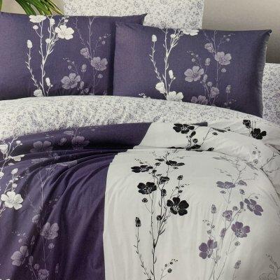 Полуторное постельное белье First Choice Ranforce (100% хлопок) - Camelia Lilac