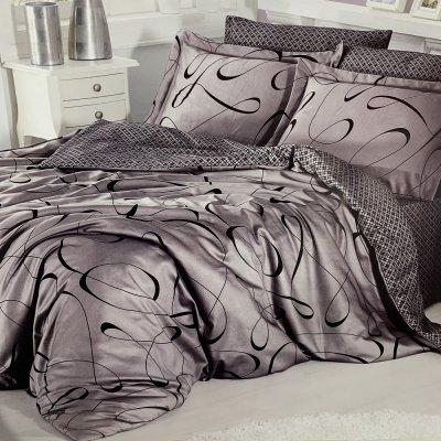Полуторное постельное белье Cotton Satin - Calisto Leylak