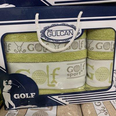 Набор махровых полотенец Gulcan - Golf (салатовый)